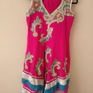3 piecs indian suit embroidery anarkily styel.